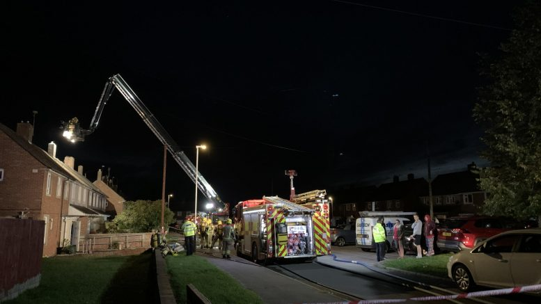 Crews from five fire stations tackle Pinehurst house blaze