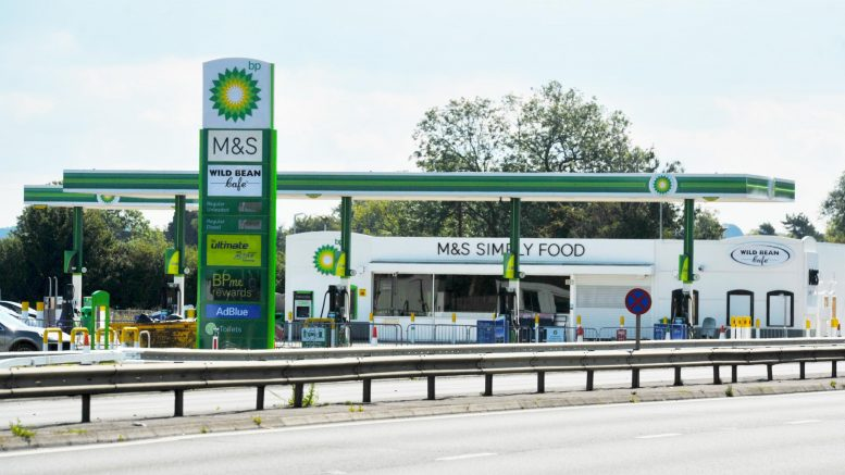 Empty BP petrol station on A419 remains closed as slip road incomplete